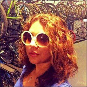 1012 Vanessa Feliciano Selfie in the bike room