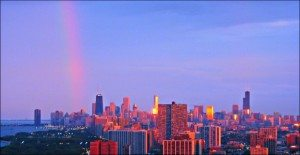 4501 C KIestler Rainbow Over The City
