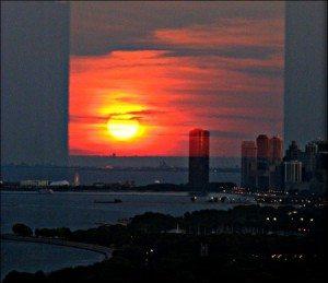 4501 Catherine Kestler Sunset Over Navy Pier
