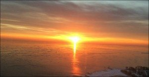 500506 Sally Preissig Volcanic Sunrise Over Icy Lake