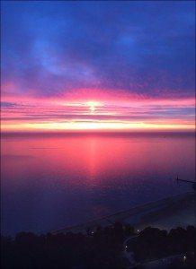 5501 Nastassia Johnson Sunrise over Lake Michigan