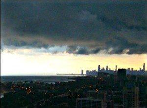 S Pressig storm rolling over city