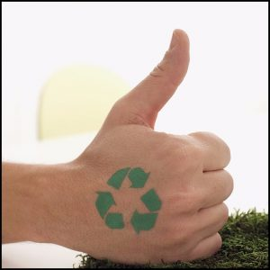 recycling thumbs up